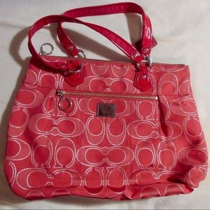 Coach Signature Red Tote